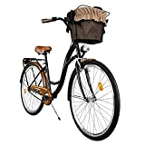 Milord. 2018 Vélo de Confort, Byciclette, Vélo Femme, Vélo de Ville, 1 Vitesses, Brun Noir, 28 Pouces