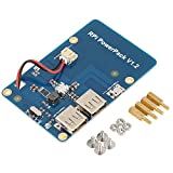 Akozon Lithium-Batterie-Erweiterungskarte Lithium Battery Akku Pack Expansion Board für Raspberry Pi 3 Modell B/Pi 2B / B und Mobiltelefon