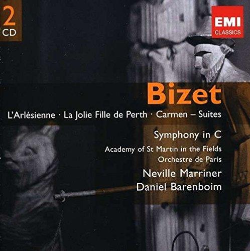 BIZET: L' Arlésienne; La Jolie Fille De Perth Suite; Carmen Suites; Symphony in C / Marriner, Barenboim, Frémaux