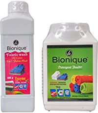 Le Bionique Detergent Powder and Fabric Wash - Combo of 2