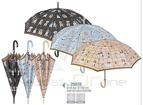 PERLETTI 25978 Lady 61/8 Aut - Paraguas Resistente al Viento para Perros...