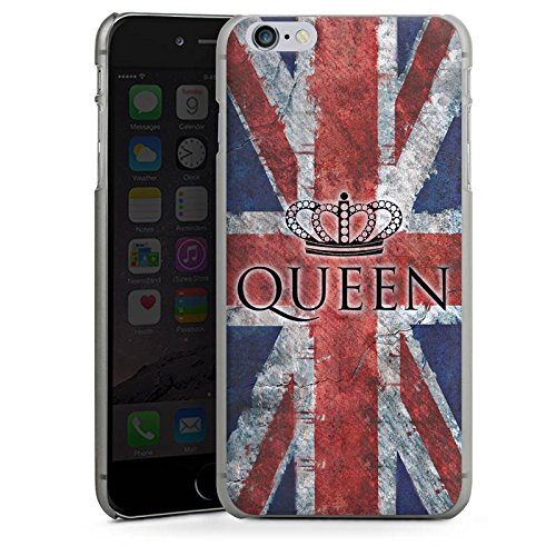 Apple iPhone X Silikon Hülle Case Schutzhülle Queen Großbritannien Flagge Union Jack Hard Case anthrazit-klar