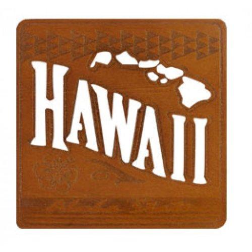Island Style Untersetzer-Hawaii-Laser Geschnitten Holz-4Pack Set -