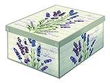 Kanguru dekorative Aufbewahrungs-Box mit Griffen und Deckel, Lavandel-Motiv, Mehrfarbig
