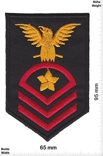 Patch-Iron-US Navy Chief Petty Officer - 3 Streifen - Adler - - Military - Sergant - Iron On Patches - Aufnäher Embleme Bügelbild Aufbügler (Us-navy Chief)