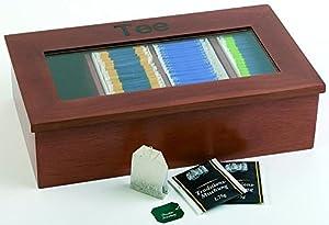 Assheuer & Pott ASS11574Boîte à thé avec 4compartiments 33,5cm x 20cm, hauteur 9cm
