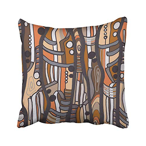 Shengpeng Jazzy Abstract earthtones Pillow Cushions Case Throw Pillow Cover for Sofa Home Decorative Pillowslip Gift Ideas Household Pillowcase Zippered Pillow Covers 18X18Inch