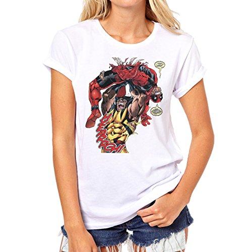 Deadpool Movie Poster Background Herren T-Shirt Grau