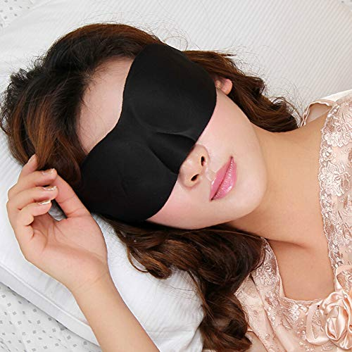 TCI STAR HEALTH PRODUCTS Soft Large Adjustable 3D Contoured Eye Masks for Sleeping, Travel, Shift Work, Naps, Night Blindfold Eyeshade for Men Women