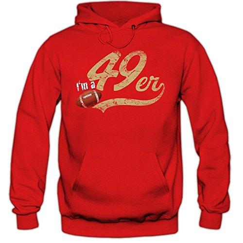 San Francisco 49ers (I'm a 49er #1 Premiumhoodie Herren Super Bowl Play Offs Football Hoodies USA Kapuzenpullover, Farbe:Rot;Größe:XXL)