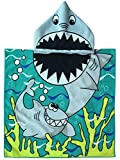 SINBLUE Kinder Kapuzen-Poncho Badetuch, Strand, 24 x 48 cm, für Baby-Shower Moms, WHITE SHARK