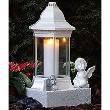 Grablaterne inkl Granitsockel Grablampe Grableuchte Granit Grablicht Kerze Herz