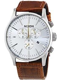 Nixon Herren-Armbanduhr XL Sentry Chrono Chronograph Quarz Leder A4051888-00