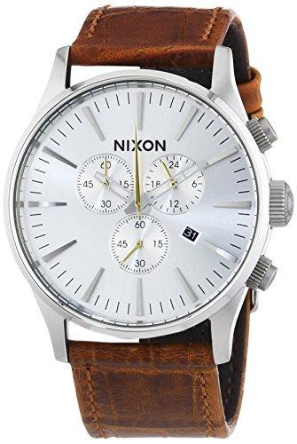 nixon-mens-quartz-watch-sentry-chrono-a4051888-00-with-leather-strap