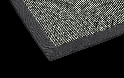 Sisal Küchen Teppich Mara auch fürs Esszimmer oder Flur geeignet DEKOWE (80 x 150 cm, 009 anthrazit)