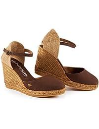 Viscata Satuna 7,6cm cuneo, ankle-strap, Closed toe, Classic Espadrilles Heel Made in Spain