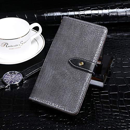 BELLA BEAR Case für Leagoo Z7,Leder Brieftasche Geldbörse Halterung Funktion Weichem PU Material Phone Case Cover for Leagoo Z7 Hülle(Grau)