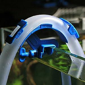 Soporte de manguera,, no deslizamiento ajustable tubo de agua de filtración de acuario tanque de peces filtro cubo de montaje Clip–firmemente Hold Mount Tubo tanque accesorios