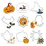 Leisial™ 8 Stücke Halloween Ausstechformen Rostfreier Stahl Ausstechformen Metall Edelstahl Keksausstecher Halloween Ausstecher Ausstechformen