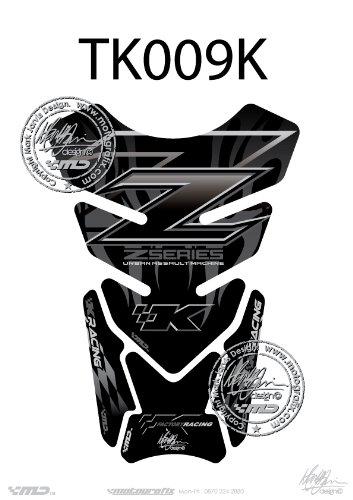 Kawasaki Z750, Z1000 schwarz, Serie Z Motorrad Tankpad Motografix Tankpad 3D-Schutzfolie