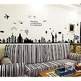 ملصقات لتزيين جدران غرف المعيشة وغرف النوم قابلة للنزع على شكل المدينة الاوروبية
