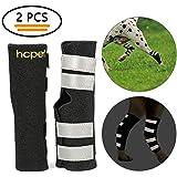 Hcpet Bandagen für Hunde, 1 Paar Bein-Sprunggelenk-Wrap schützt mit Sicherheitsreflexgurten für Verletzungen und Verstauchungen, Wundheilung und Verlust der Stabilität vor Arthritis (XS)