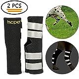Hcpet Dog Hock Brace per Cani, Gomito del Cane ferite Protector con Cinghie di Sicurezza Riflettenti per la Protezione da lesioni e distorsioni (L)