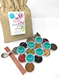Gin Botanicals & Spices Gift Set– Garnish your Gin and Tonic with 12 different Botanicals | Infuse Gin and Tonic Cocktails | Includes Orange & Lemon, Juniper Berries, Allspice, Rose Petals, Fennel Seeds, Cardamom, Coriander, Pink Peppercorn, Lemon Grass, Cassia and Elderberries