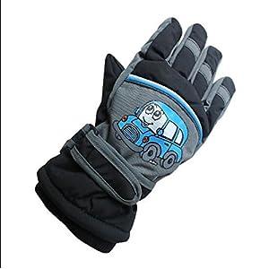 Eastlion 4-10 Jahre alte Schmetterling/Auto/Flugzeug Muster Kinder Skifahren Handschuhe Karikatur Draussen Warme Handschuhe