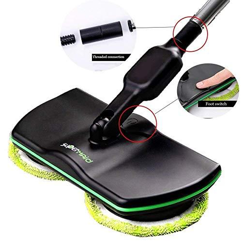 Uhruolo Elektrischer Mopp Drahtloser Bodenreinigung -Reinigungs-Handspinnender Mopp-Wieder Aufladbare Angetriebene Boden-Reiniger-Wäscher
