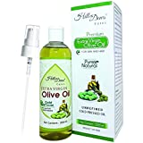 HillDews Extra Virgin Olive Oil 200ml - Cold Pressed - For Skin & Hair