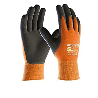 ATG MaxiTherm Thermal Work Glove Size 9 -MaxiTherm cold temperature work gloves are designed for general wet or dry handling applications in cold conditions. Made from natural latex on a seamless acrylic/polyester liner with excellent non slip grip, MaxiTherm cold temperature work gloves are tough and flexible, yet soft and comfortable to keep hands warm when working in cold conditions