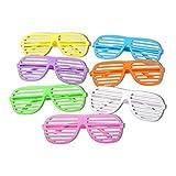 S/O 12er Pack Partybrille Bunt 6 Farben erhältlich Partybrillen Bunt Gitterbrille Spaß Spass Brille Atzen Brillen Party Brille