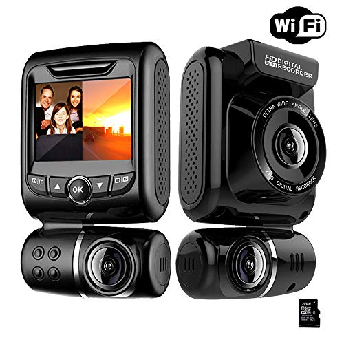 Dash Cams For Cars Front and Rear Camera,Full HD 1080P Wifi Dash Camera with Super Night Vision, 150° Wide Angle, Motion Detection, Parking Monitoring, G-Sensor, Loop Recording
