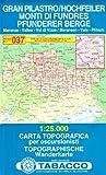 Hochfeiler, Pfunderer Berge: Wanderkarte Tabacco 037. 1:25000 (Cartes Topograh)