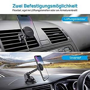 VANMASS-Handyhalter-frs-Auto-Magnet-Handyhalterung-Auto-Kfz-Lftung-Saugnapfhalterung-Lftungs-Armaturenbrett-mit-6-Magnete-360-Drehbarshalter-Teleskoparm-fr-iPhone-iPad-Samsung-Huawei-LG-XIAOMI