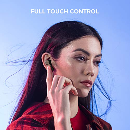 Noise Shots X-Buds Truly Wireless in-Ear Headphones Bluetooth 5.0, Smart Touch Control,Upto 16 Hours of Playtime with Charging Case,Voice Assistant, Rated IPX5 Waterproof and Sweatproof (Teal Inexperienced) Image 4