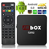 Android Box - SMBOX SM2 Android 6.0 4K 1080P Amlogic S905X Quad-Core 1G+8G 2.4GHz WIFI HDMI