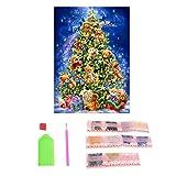 Weihnachten Dekoration Weihnachtsbär Diamant Malerei Aufhängen Deko für Zuhause, Kaminsims, Weihnachten