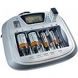 Camelion universal de cargador de rápido cm de 3298universal 8canal Cargador de batería/Charger para AA/AAA/c/D/9volt pilas Ni-Mh Ni-CD + Tester + USB