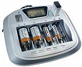 Camelion Universal-Schnell-Ladegerät CM-3298 Universal 8 Kanal Akku Ladegerät/Charger für AA/AAA/C/D/9Volt Batterien Ni-MH Ni-CD + Tester + USB