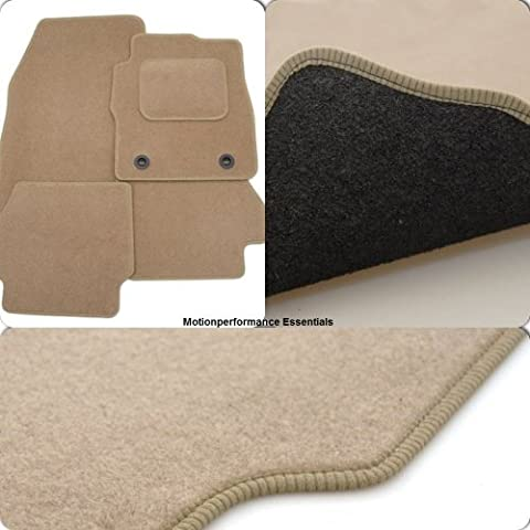 Custom Fit Tailor Made Beige Carpet Car Mats for Toyota Land Cruiser Amazon (2002-2007) - Double Drivers Side Protection Heel Pad