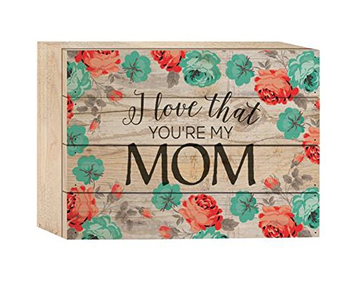 P. Graham Dunn I Love That You 're My Mom Watercolor Rose Tapete Design 6x 8Holz Plank Design Wand Box Sign (Plank Holz)