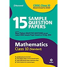 15 Sample Question Papers Mathematics Class 10th CBSE 2019-2020