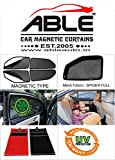 #3: Able Spider Car Magnetic Sun Shade Curtains With Zipper For DATSUN REDI-GO Set of 4