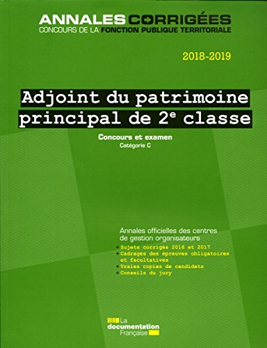 Adjoint du patrimoine principal de 2e classe : Concours et examen catégorie C