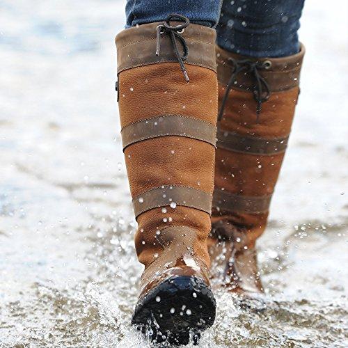 Dublin River Stiefel mit wasserfester Membran Braun - dunkelbraun