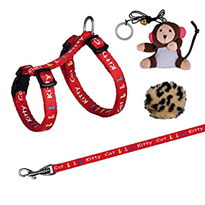 Trixie Kitten Set of Harness and Lead Nylon Patterned