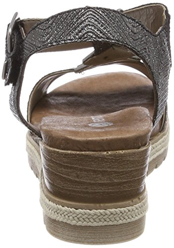 Remonte D6350, Sandales Bride Cheville Femme Noir (Schwarz-silber)