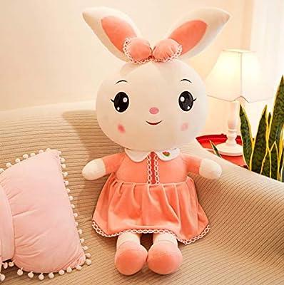 WHKJ Lindo Conejo muñeca de Dibujos Animados Mascota Conejo de Peluche de Juguete para niños Dormir Comodidad muñeca Siesta Almohada Suave sofá decoración cojín Creativo cumpleaños 45 cm por WHKJ